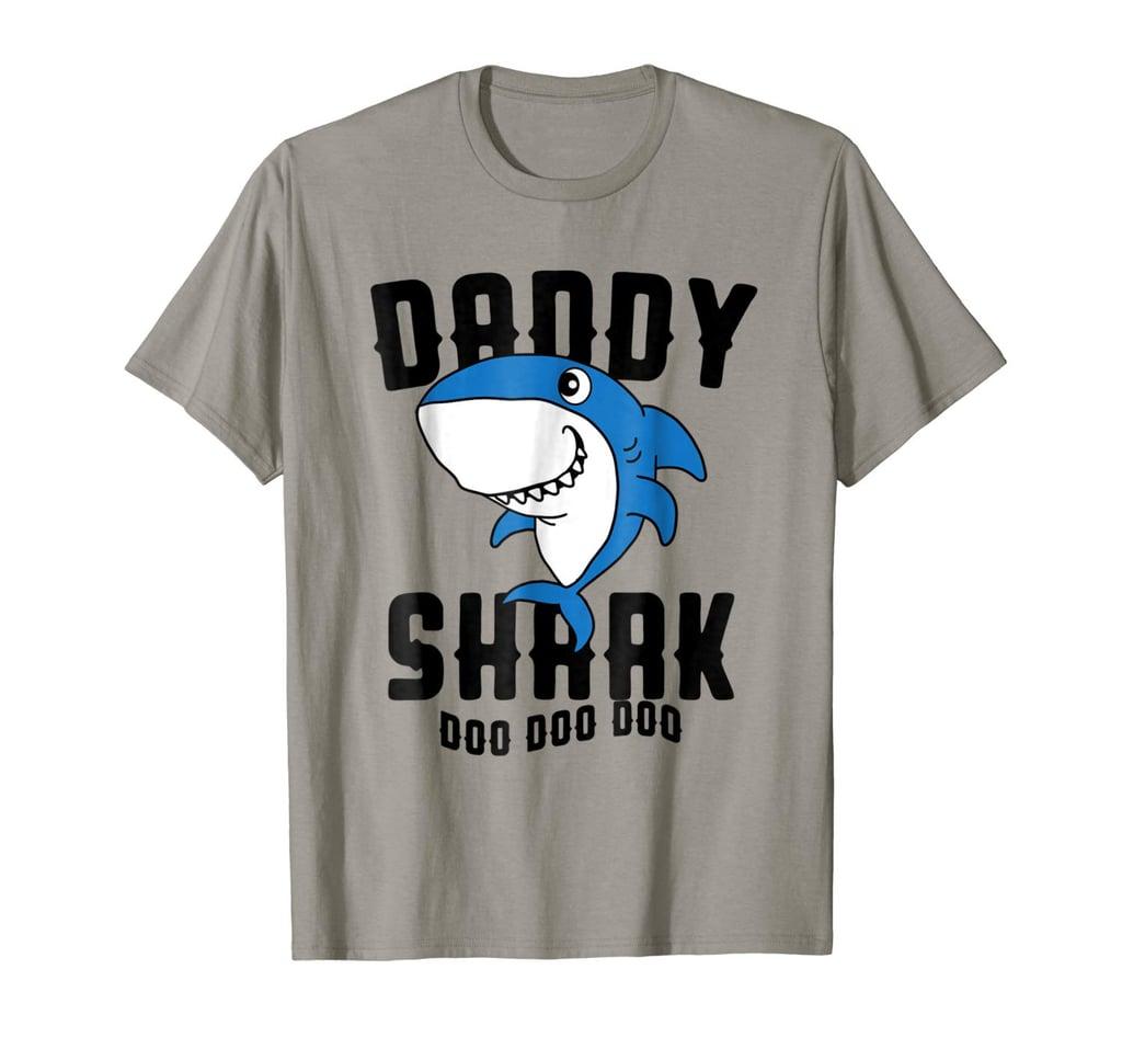 Daddy Shark T-Shirt Father Grandpa Halloween