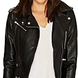 Romeo & Juliet Couture Pocket Detailed Leather Jacket