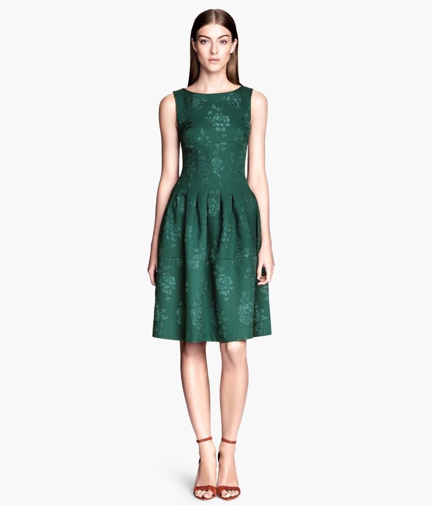 H&M Green Brocade Dress