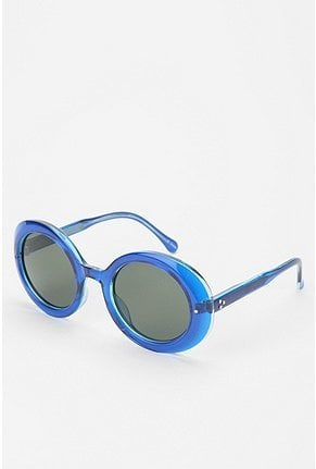 Take a break from your usual black or tortoiseshell sunglasses and try this round blue pair on for size.  Spitfire Lola Sunglasses ($39)