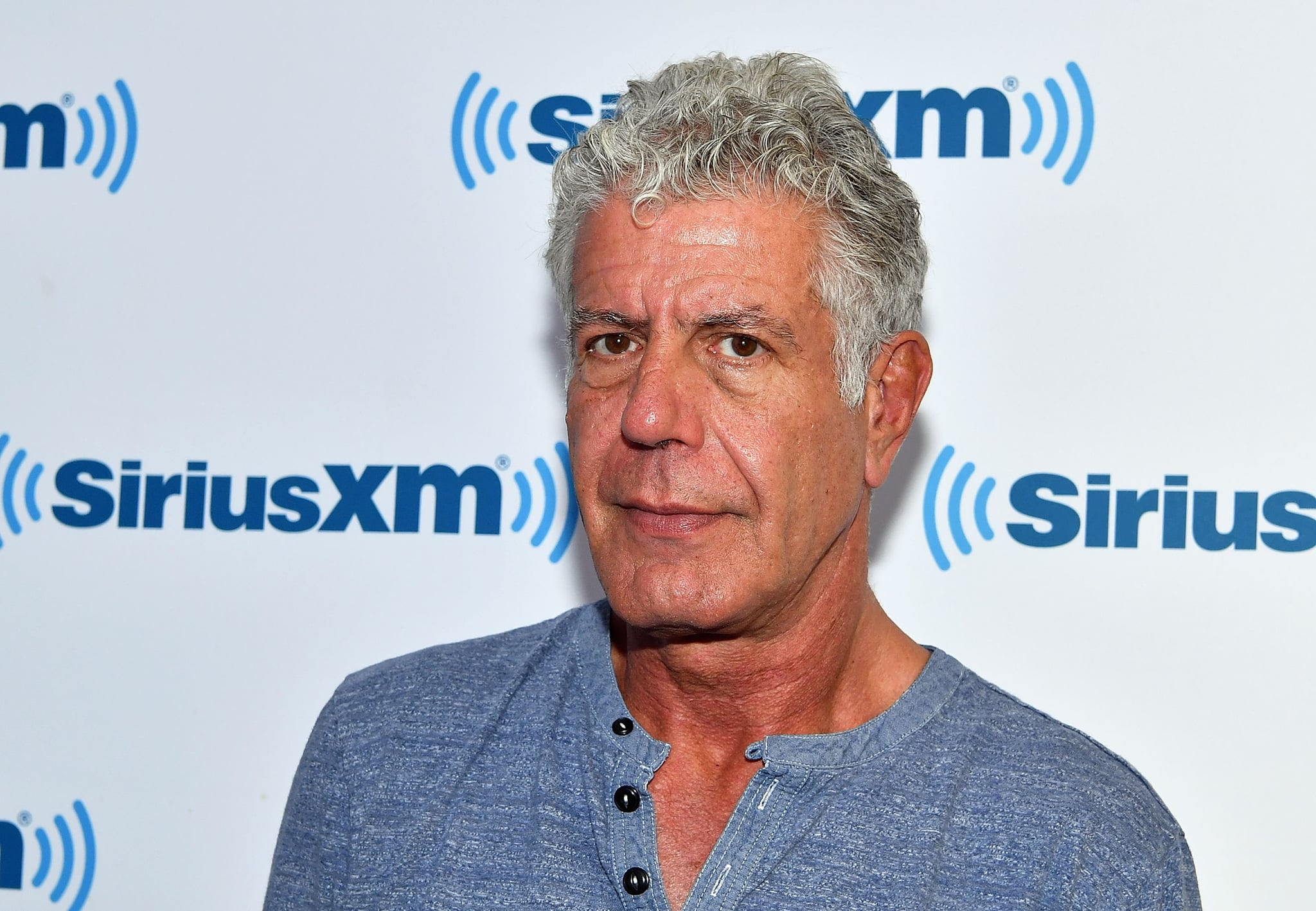 NEW YORK, NY - OCTOBER 05:  (EXCLUSIVE COVERAGE) Chef/TV personality Anthony Bourdain visits SiriusXM Studios on October 5, 2017 in New York City.  (Photo by Slaven Vlasic/Getty Images)