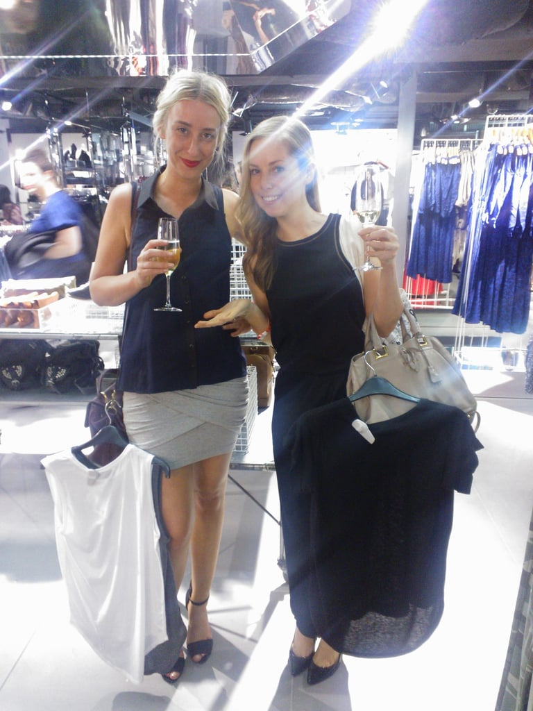 Champagne + credit cards = slightly dangerous shopping trip at Topshop Sydney.