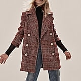 Free People Naiomi Check Peacoat