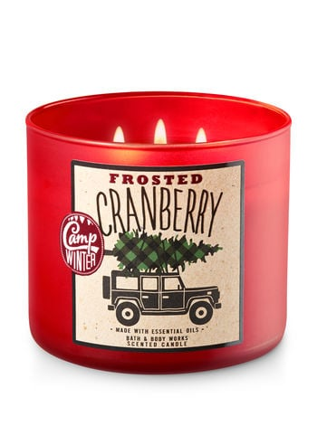 Frosted Cranberry Candle ($25) | Bath & Body Works Holiday ...