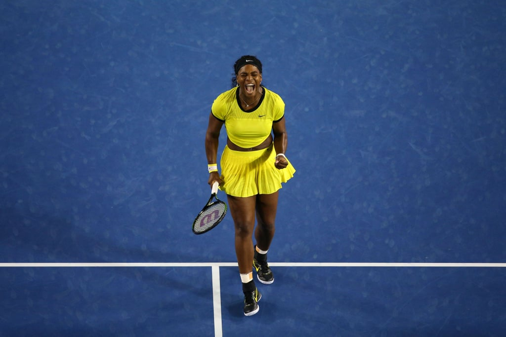 Serena Williams Was Glowing in Yellow at the 2016 Australian Open