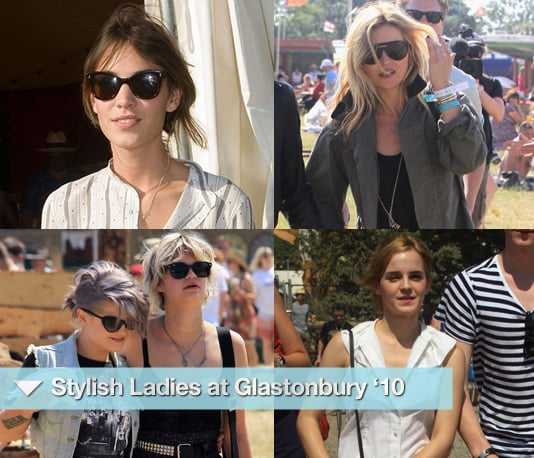 Photos of Kate Moss, Emma Watson, Sienna Miller and Kate Hudson at Glastonbury Festival 2010