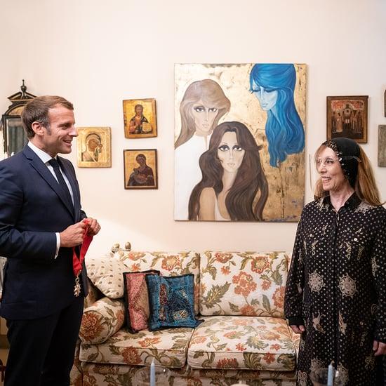 الرئيس الفرنسي يزور المطربة اللبنانية فيروز في منزلها 2020
