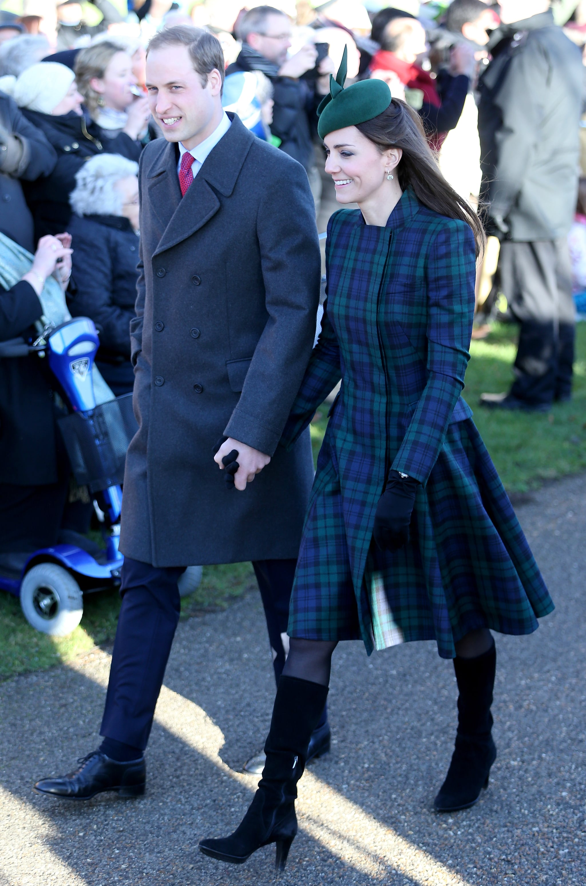 Will and Kate held hands on Christmas Day 2013 when they walked to a special service in Sandringham.