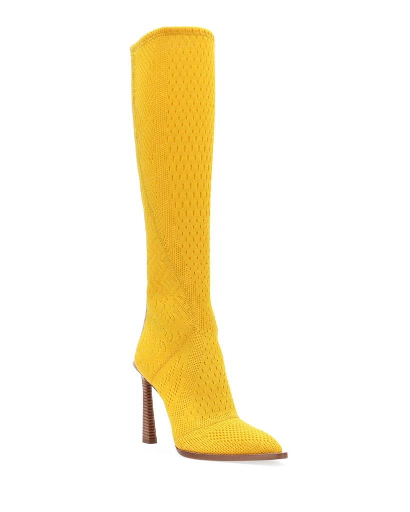 Fendi Knit To-the-Knee Boots