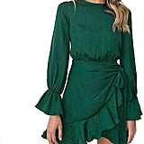 Weepinlee Ruffles Wrap Dress