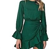Weepinlee Ruffles Wrap Dresses
