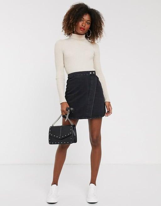 ASOS Design Denim Wrap Skirt