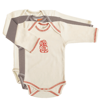 For the Layette: Naturebaby Organic Long Sleeve Body Suit