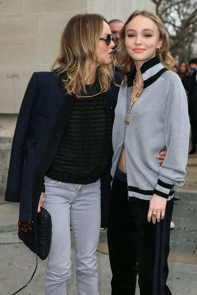 Vanessa Paradis and Lily-Rose Depp Paris Fashion Week 2017 ...