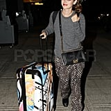 Rachel Bilson was spotted catching a flight out of NYC last night.