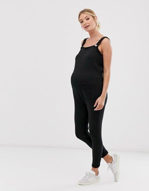 ASOS DESIGN Maternity exclusive nursing button strap overall | ASOS