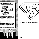 """I Think You Are Super"" Cards"