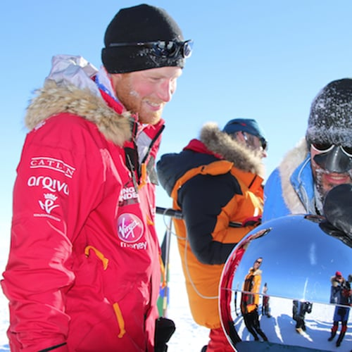 Prince Harry Reaches South Pole, Walking With the Wounded