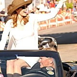 Diane Lane led the Kentucky Derby Pegasus Parade in 2010 to promote Secretariat.