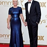 Amy Poehler and husband Will Arnett at the Emmys.