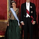 At a dinner for the President of Romania in Madrid in November 2007.