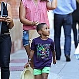 Alicia Keys Strolls NYC With Baby Egypt and His Big Brother Kassem