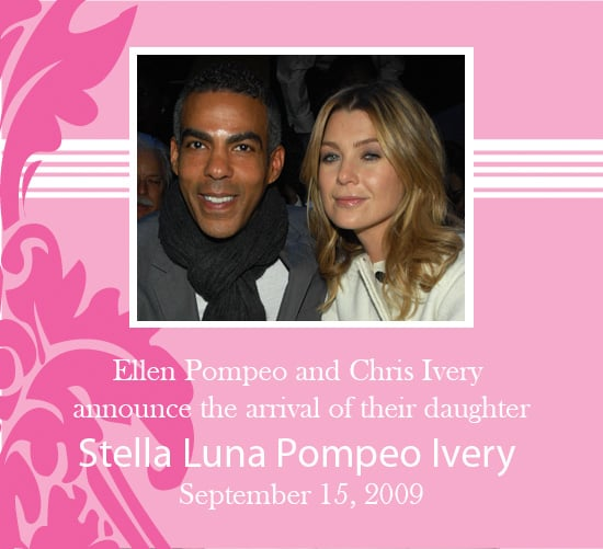 It's a Girl For Ellen Pompeo and Chris Ivery!