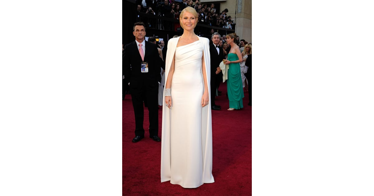 a69490ebeec9 Gwyneth Paltrow wore a white Tom Ford gown.