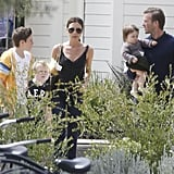 The Beckham family hung out in Napa with the Ramsays for Easter 2012.