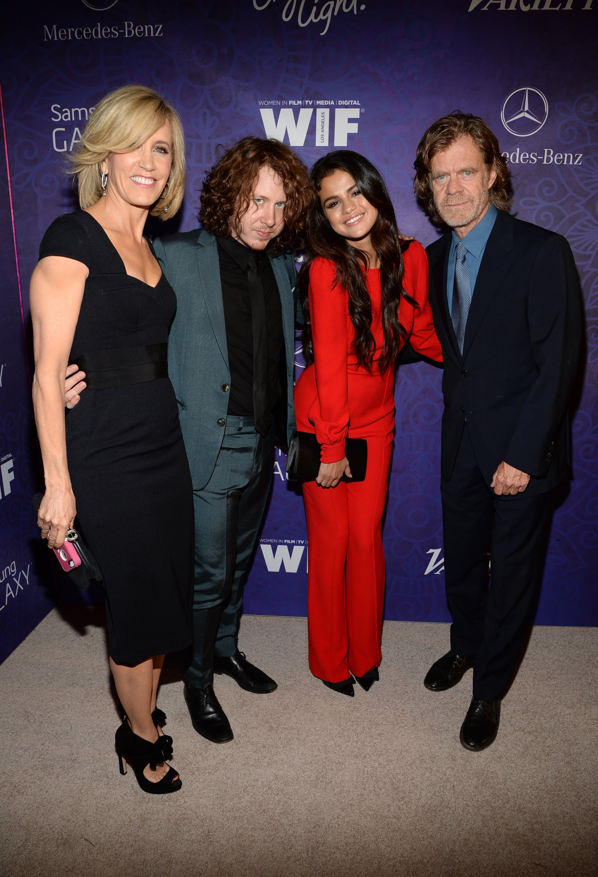 On Saturday, Selena Gomez hung out with Felicity Huffman, Ben Kweller, and William H. Macy at the Variety and Women in Entertainment event in LA.