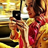 Coco Rocha showed off her pink locks before the gala got underway. Source: Coco Rocha on WhoSay
