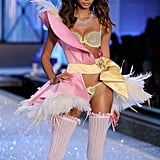 Chanel Iman rocked a pastel pirate look.