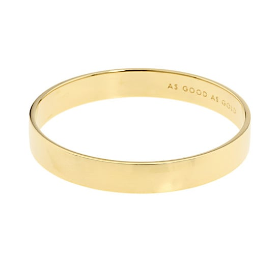 Kate Spade New York Solid Gold Idiom Bangle, $42