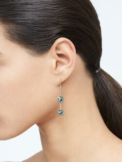 Stone Rectangular Drop Earrings