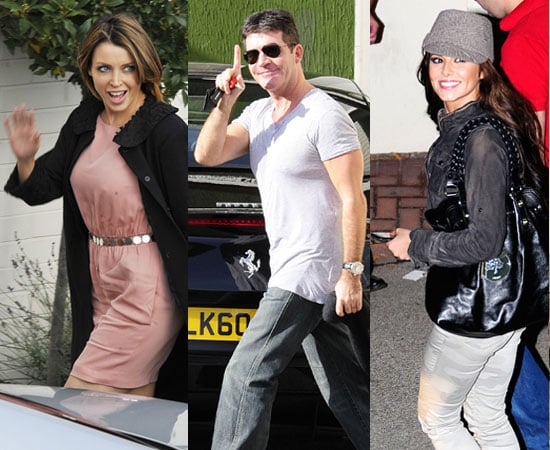 Pictures of X Factor's Cheryl Cole, Dannii Minogue, Louis Walsh, Dermot O'Leary and Sinitta at Simon Cowell's Birthday