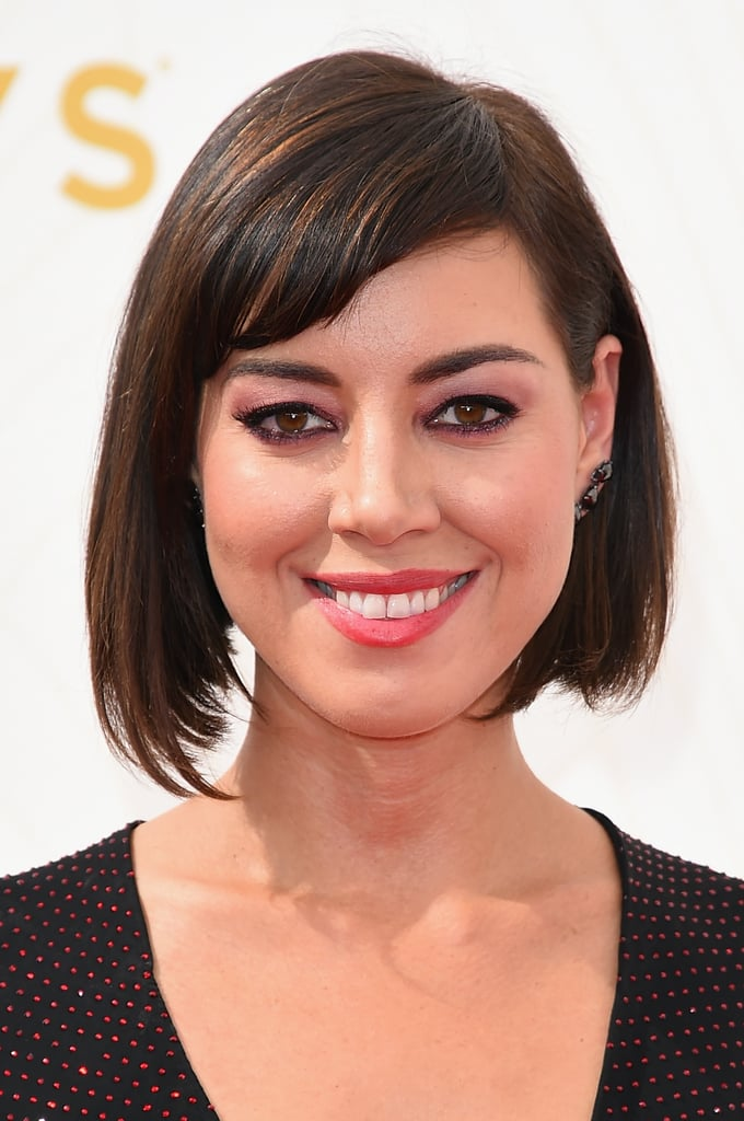 Aubrey Plaza Emmys 2015 Hair And Makeup On The Red Carpet