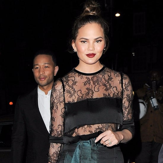 Chrissy Teigen and John Legend Out in London October 2016