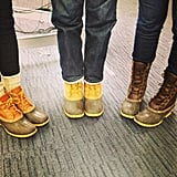 When the rain starts to fall, the L.L.Bean boots come out!