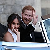 Meghan Markle Wearing the Ring For the First Time at Her Wedding Reception
