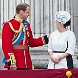 Pictured: Prince William and Princess Eugenie.