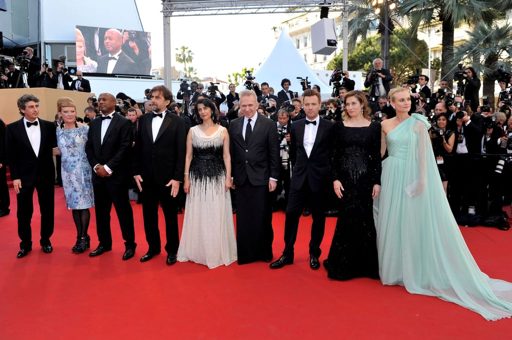 The jury for the Cannes Film Festival attended the opening ceremonies.