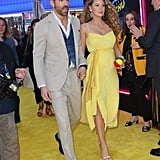 Blake Lively Wearing a Yellow Dress on the Pokemon Red Carpet to Announce Baby #3!