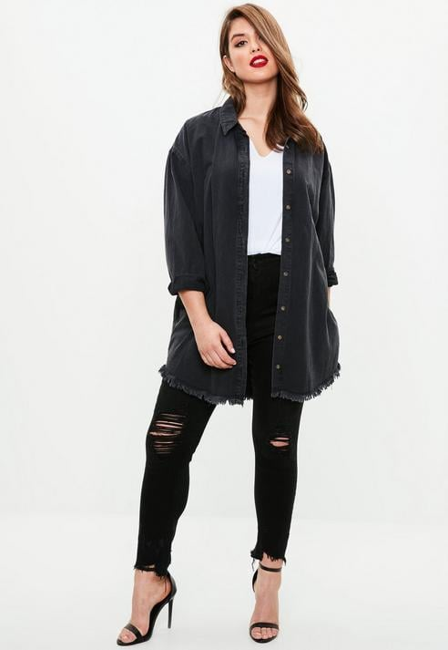 Missguided Curve Black Ripped Jeans
