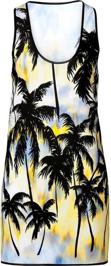 Fausto Puglisi Tie-Dye Palm Tree Tank Dress