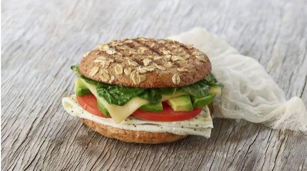 Avocado, Egg White & Spinach Breakfast Sandwich