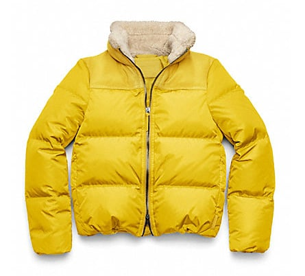 Coach's Legacy Down Puffer ($348) is extrawarm (and majorly cute!) thanks to the lamb shearling collar.