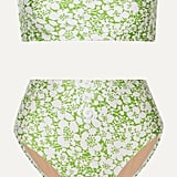 Faithfull The Brand Grete button-detailed floral-print bandeau bikini