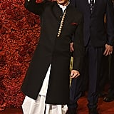 Bollywood Actor Shah Rukh Khan Opted for a Black and White Outfit