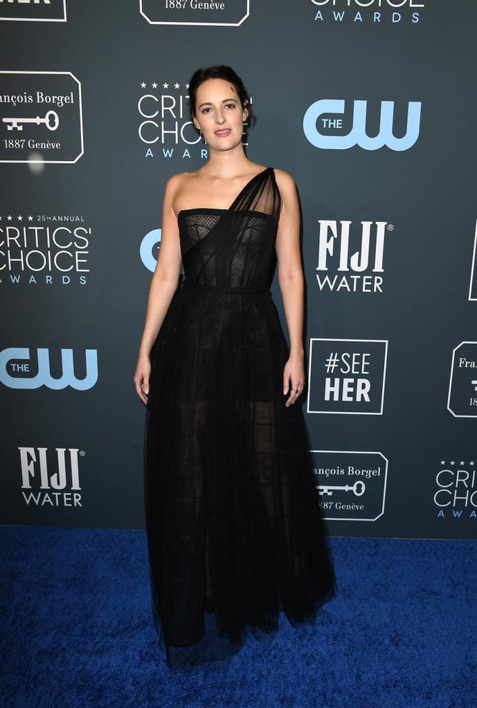 Phoebe Waller-Bridge's Black Dior Critics' Choice Dress