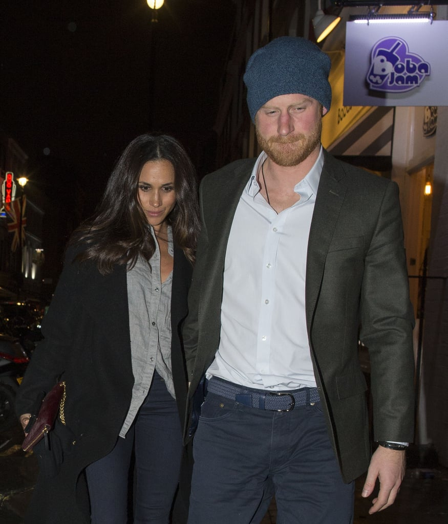 Meghan and Harry Walks together after a Dinner Date